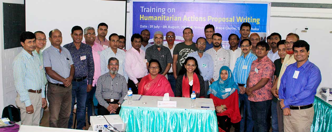 Training on Humanitarian Actions proposal Writing